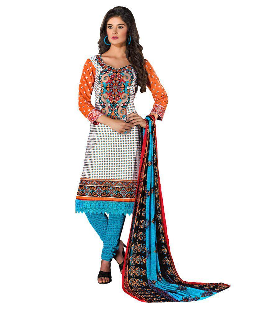 Fx Studio Multi Cotton Unstitched Dress Material