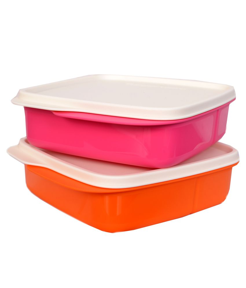 tupperware multicolor lunch box pack of 2 buy online at. Black Bedroom Furniture Sets. Home Design Ideas