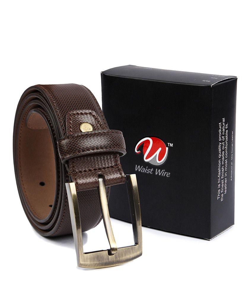 Waist Wire Black PU Belt