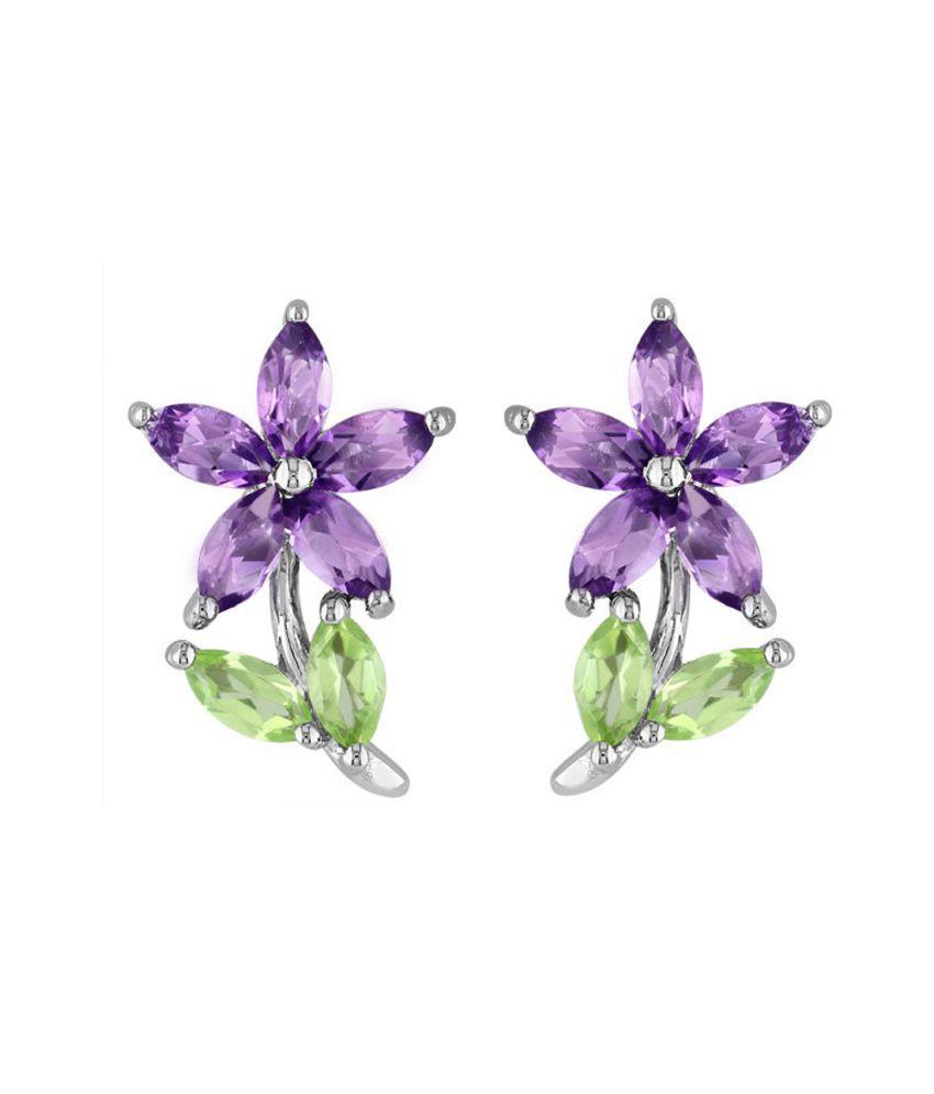 Facetzinspire 92.5 Sterling Silver Studs Earrings
