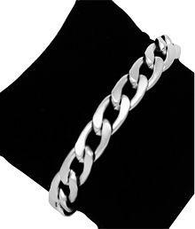 Style Tweak Silver Matte Finish Chain Bracelet