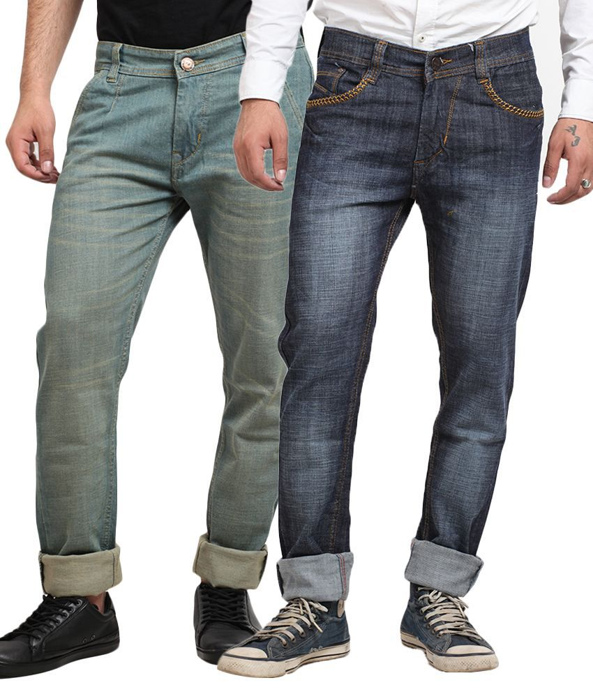X-cross Blue Regular Fit Jeans - Pack of 2