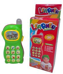 Zest4Toyz Learning Mobile Phone Projector With Vehicle, Animal, Fruits & Numbers Recognition