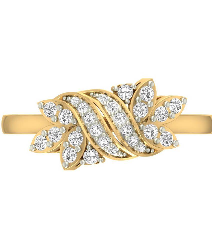 Jewels5 18kt Gold Diamond Karasel Ring