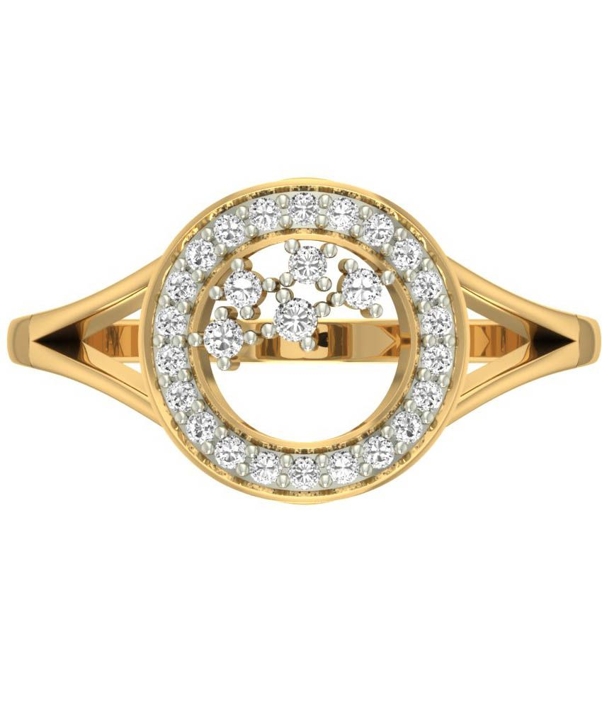 Jewels5 18kt Gold Diamond Micaden Ring