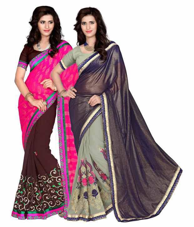 Manvaa Multicolour Jacquard Pack of 2