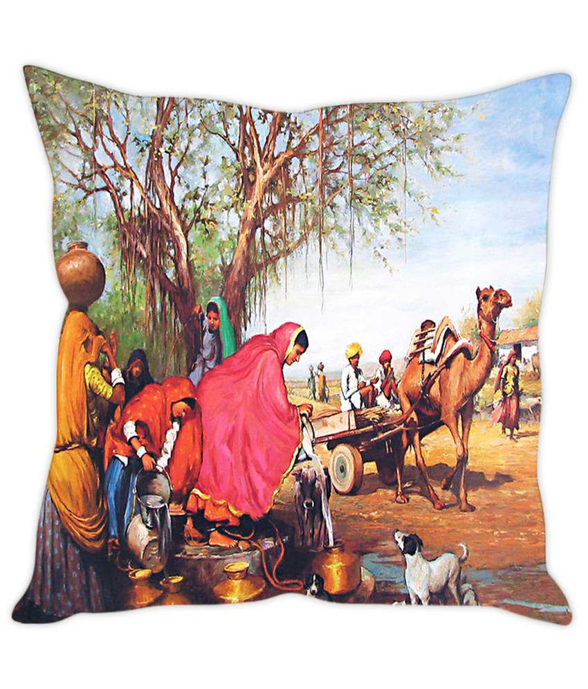 Rakesh Rajasthani womens Near Well Printed Cushion Cover  Buy Online at  Best Price  3a59a9677