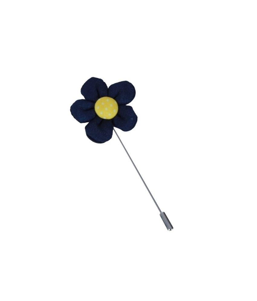 The Suit Handmade Blue Lapel Flower