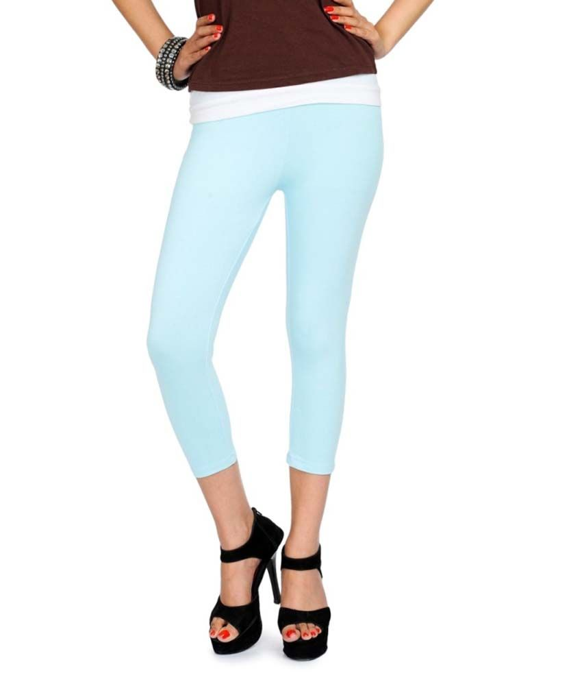 Femmora Blue Cotton Jeggings