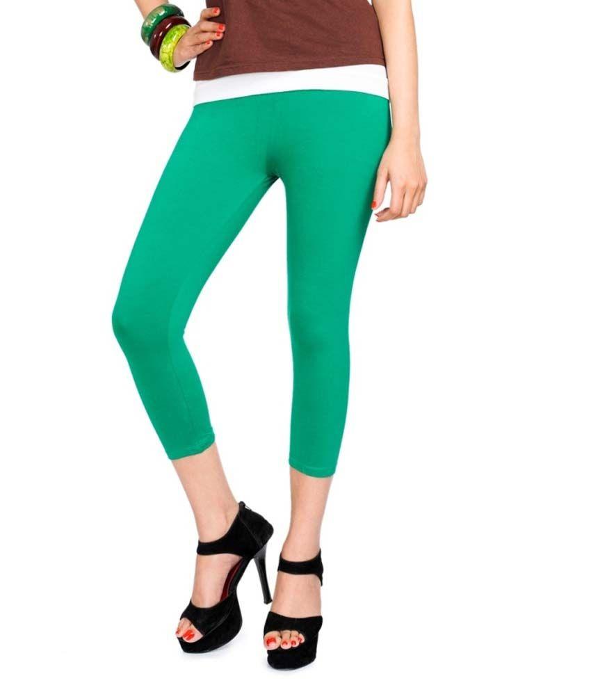 Femmora Green Cotton Jeggings