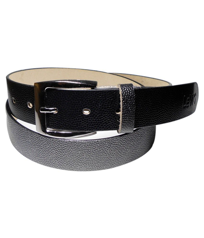 Navie Black Leather Belt