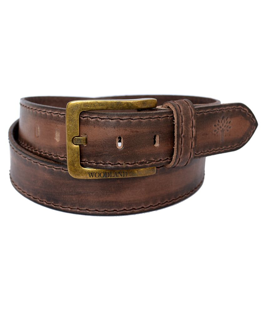 6d4fef98c Woodland Brown Leather Casual Belt Art BT1040008BRN  Buy Online at Low  Price in India - Snapdeal