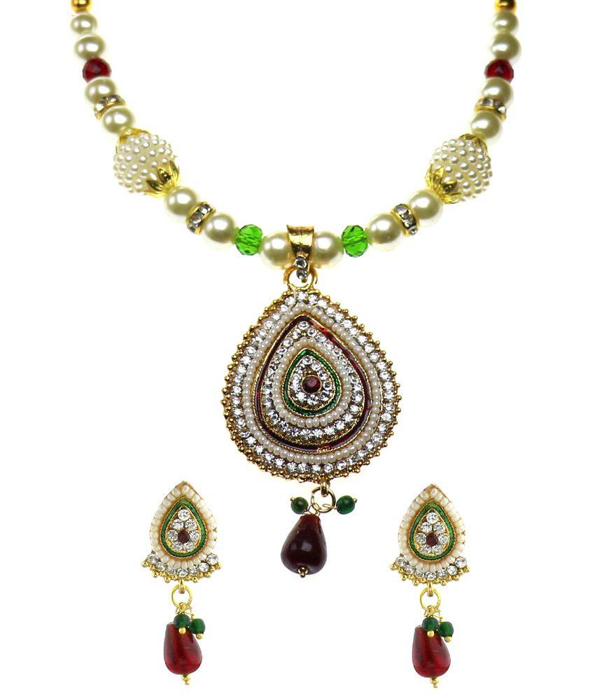 Youbella Multicolour Contemporary Festive Necklace Set