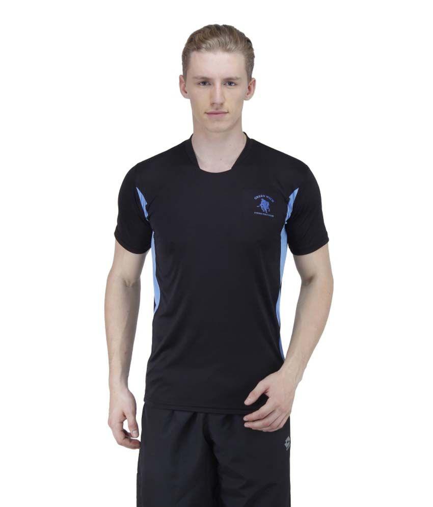 Greenwich United Polo Club Black Polyester T Shirt