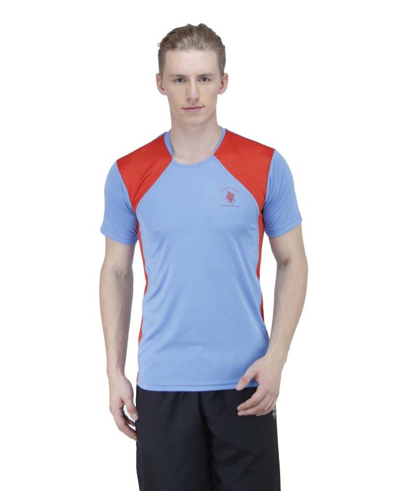 Greenwich United Polo Club Blue Polyester T Shirt