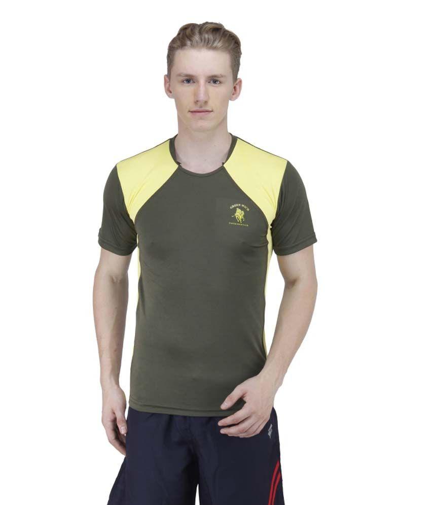 Greenwich United Polo Club Green Polyester T Shirt