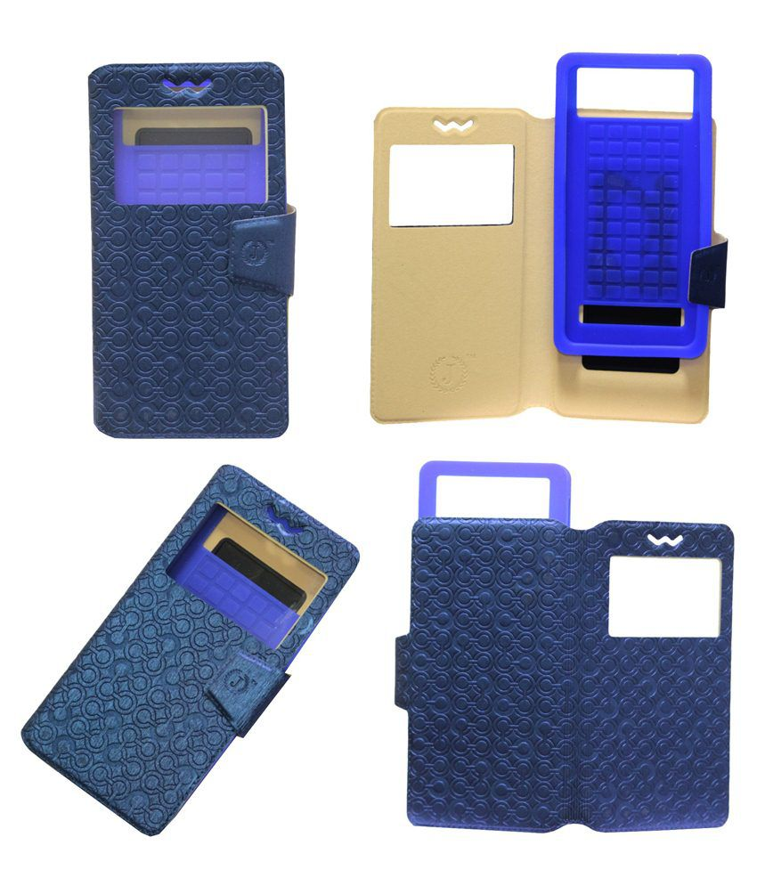 Jo Jo Flip Cover With Silicon Holder For LG Nexus 4 E960-Blue