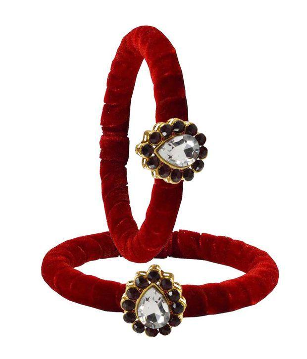 Vidhya Kangan Red Brass Casual Kadas
