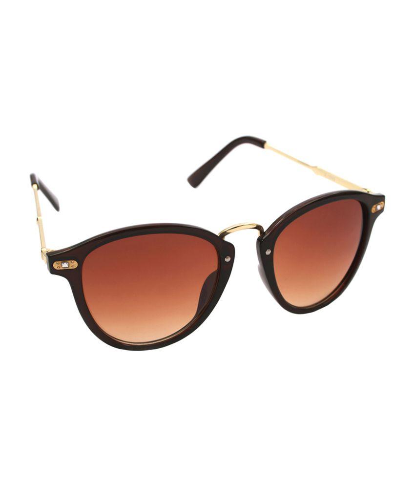 6by6 Brown & Gold Cat Eye Women Sunglasses