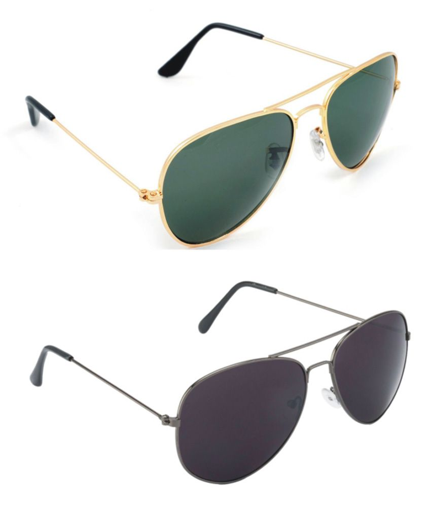 c37f9fe0045f Abazy Green   Gray Aviator Sunglasses For Men   Women - Buy Abazy Green    Gray Aviator Sunglasses For Men   Women Online at Low Price - Snapdeal