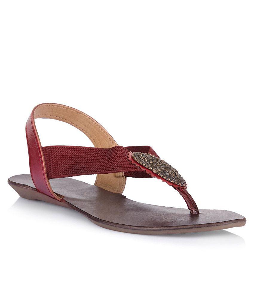 Catwalk Maroon Flat Slip-Ons