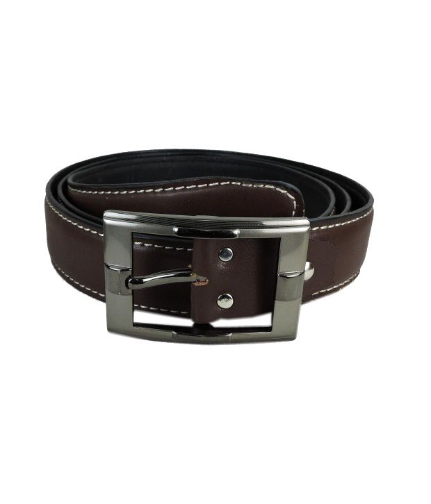 Leatherite Brown Non Leather Pin Buckle Formal Belt