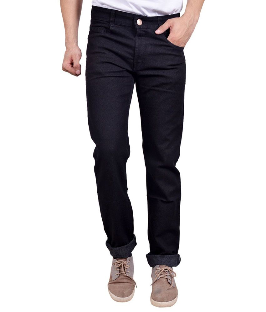 Masterly Weft Black Cotton Jeans