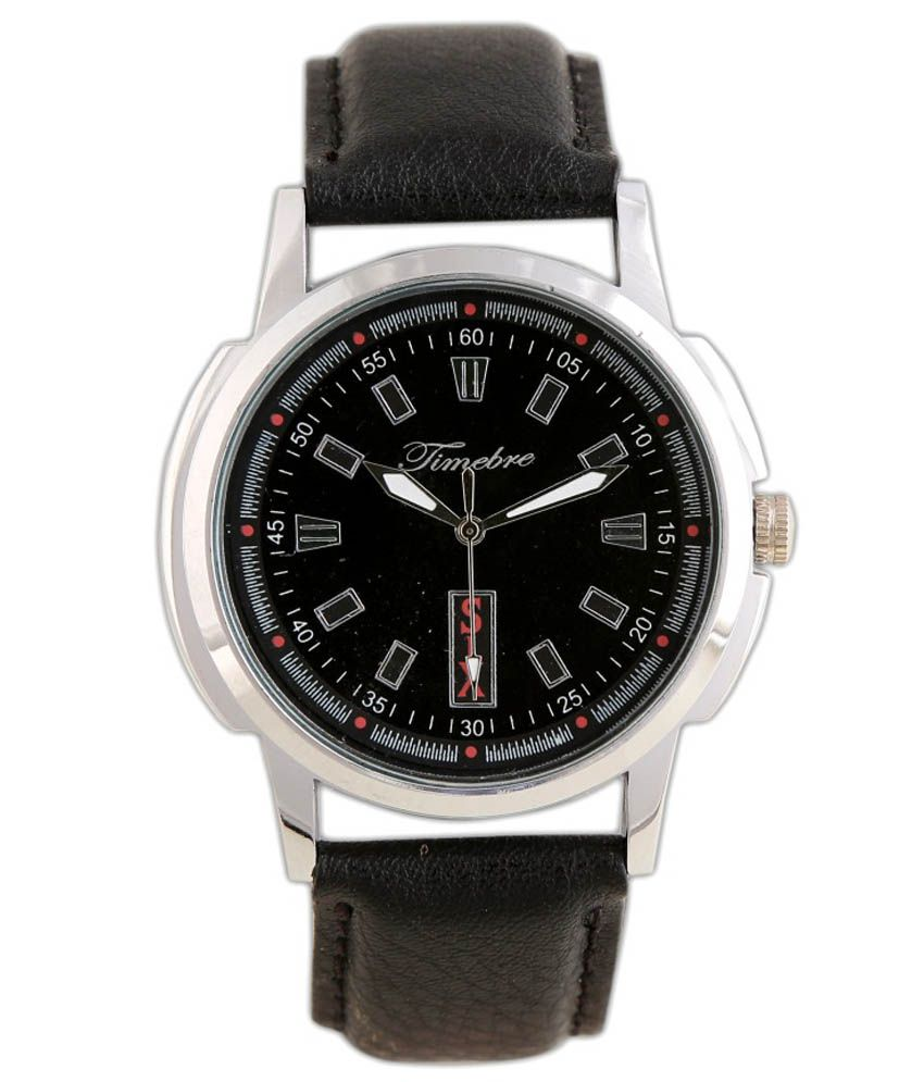 Timebre Men's Black Casual Analog Watch