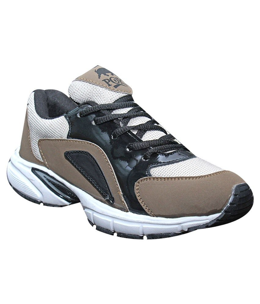 port brown white sports shoes buy port brown white