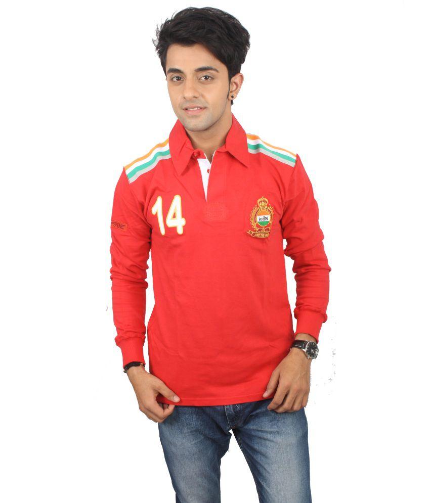Tk Red Cotton T-shirt