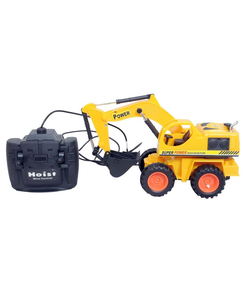 Exito Yellow Plastic Shovel Loader With Remote Control