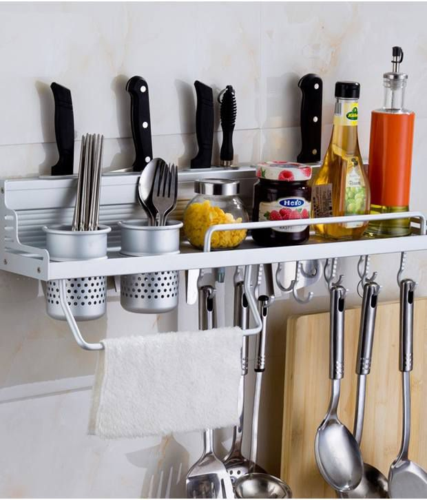 Space Saving Anti Rust Multipurpose Kitchen Aluminium Rack