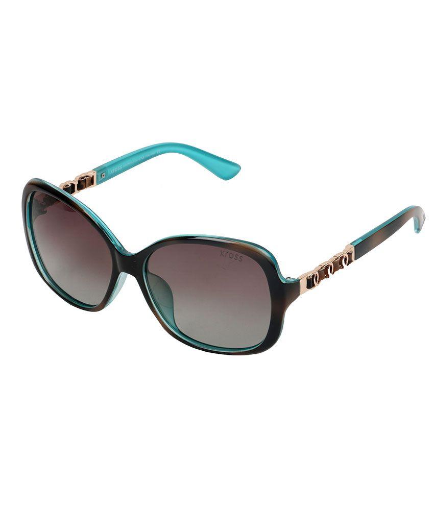 Xross Brown Square Sunglasses ( x-010-c36-58 )