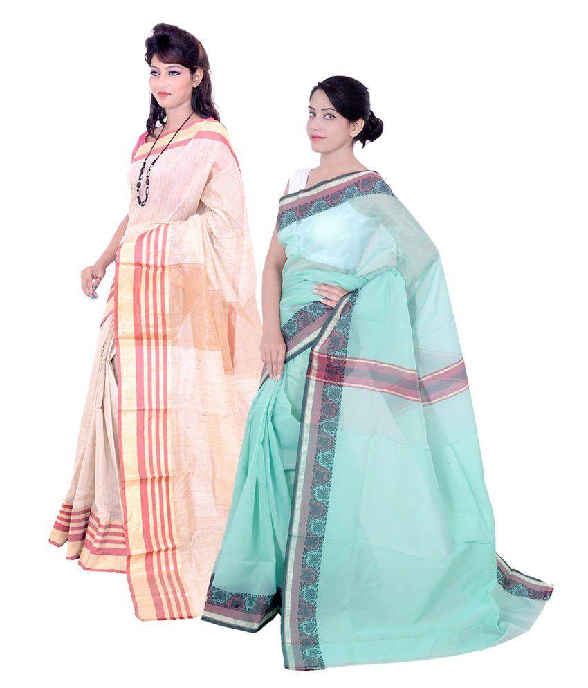 Banarasi Silk Works Multi Supernet Pack of 2