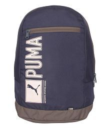 Puma Navy Polyester Backpack