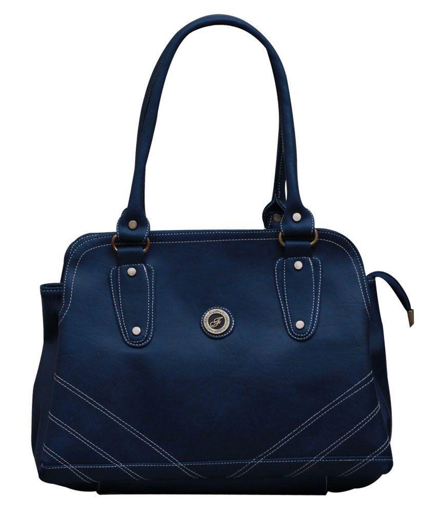 Fostelo Blue P.U. Shoulder Bags