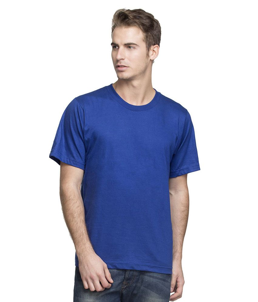 Itan Tech India Blue Cotton Blend T-shirt