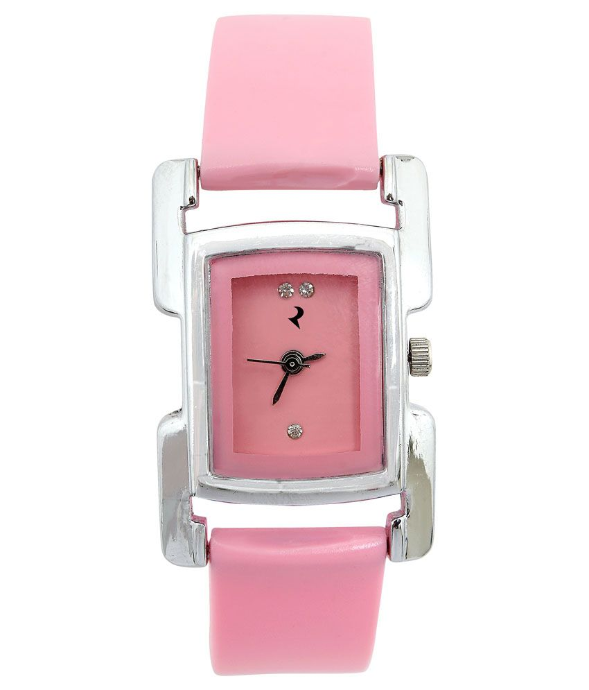 Ridas Pink Rectangular Analog Casual Watch