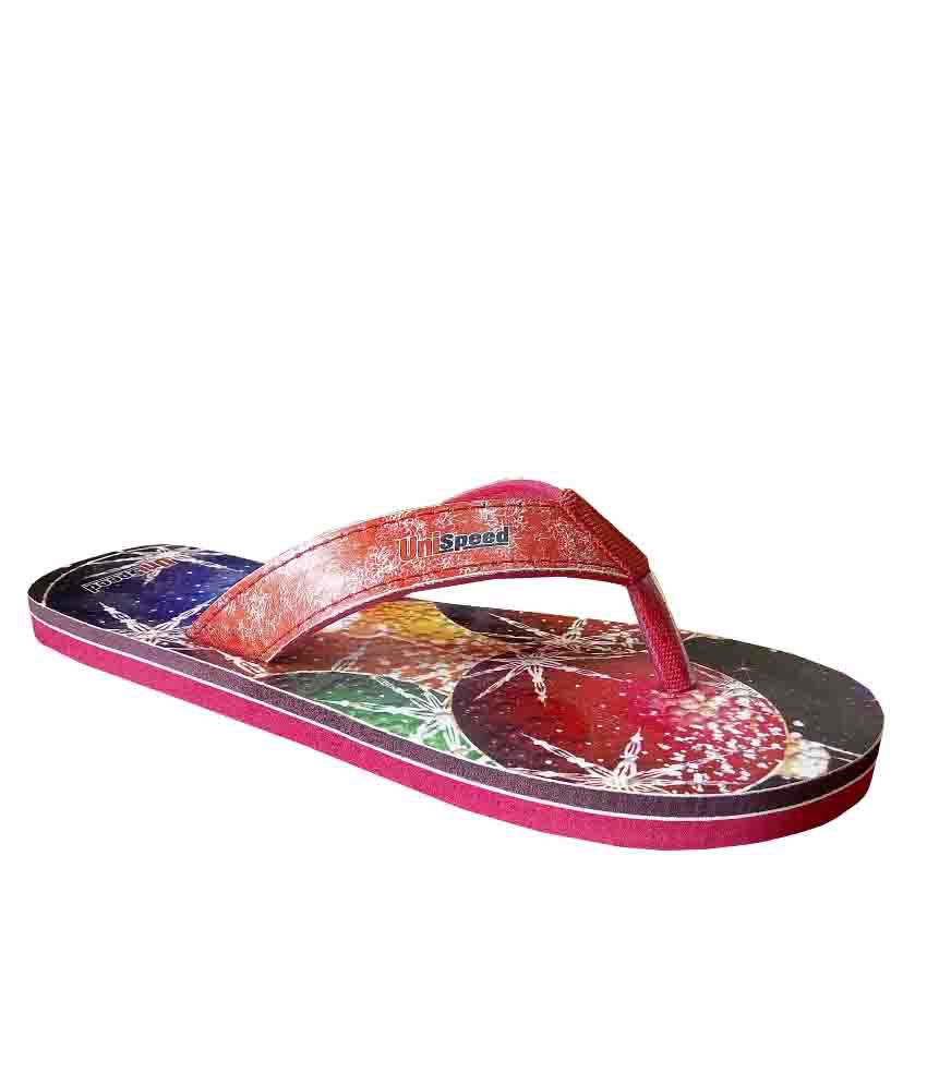 Unispeed Dew Drops Red Slippers