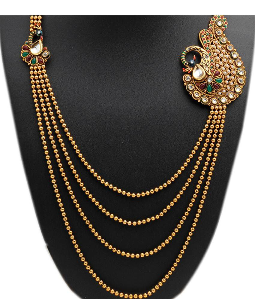 Party Queen Golden Alloy Necklace Set