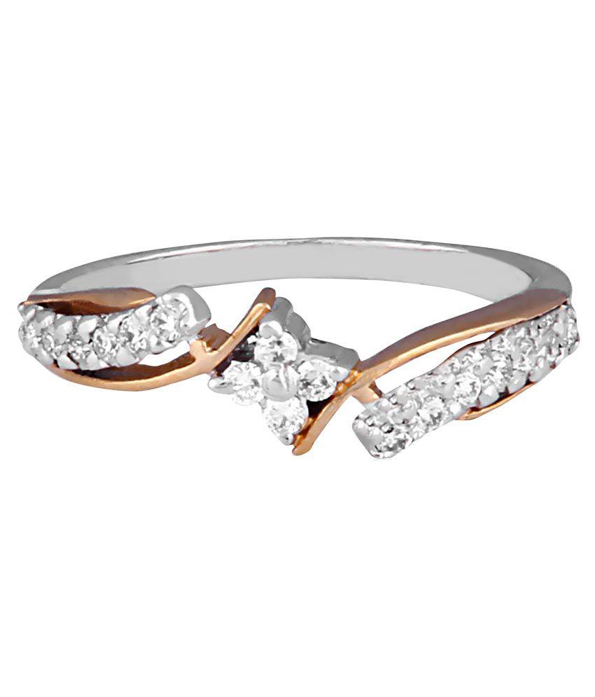Tashmay 92.5 Silver Diamond Ring