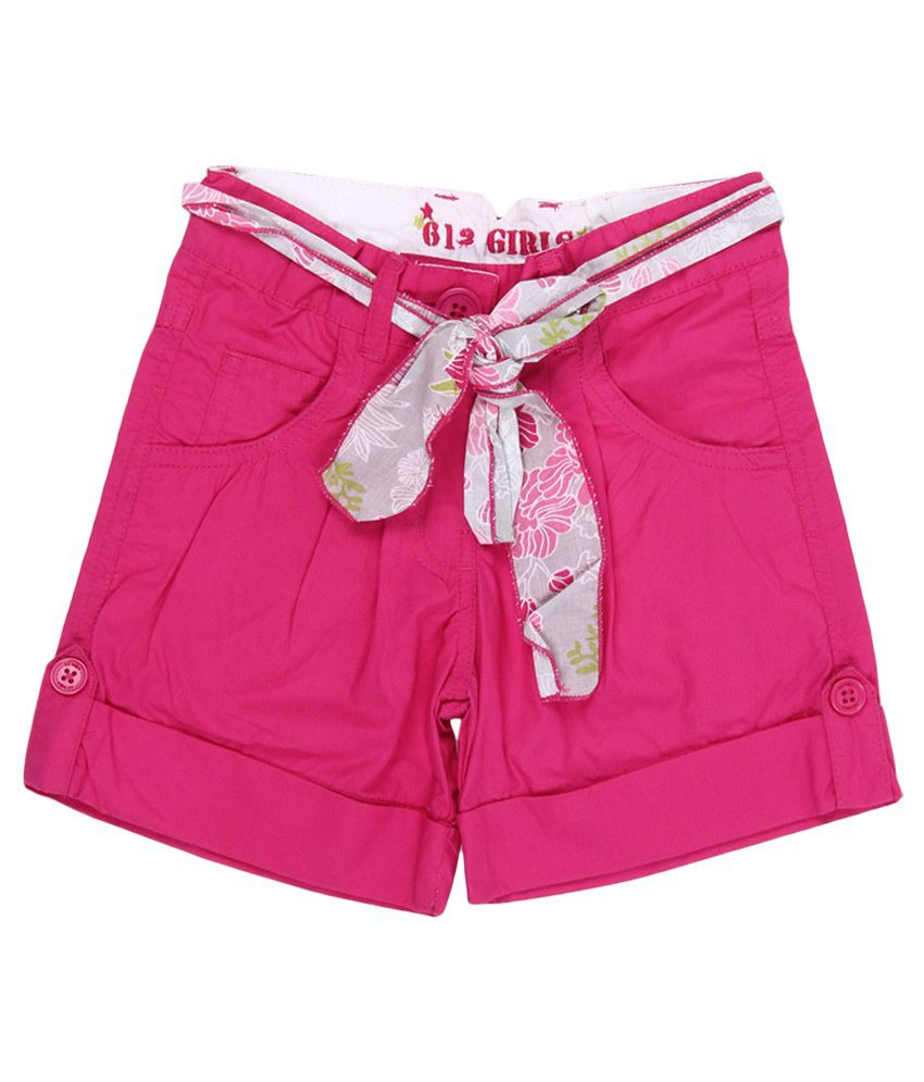 612 League Fuschia Cotton Regular Shorts