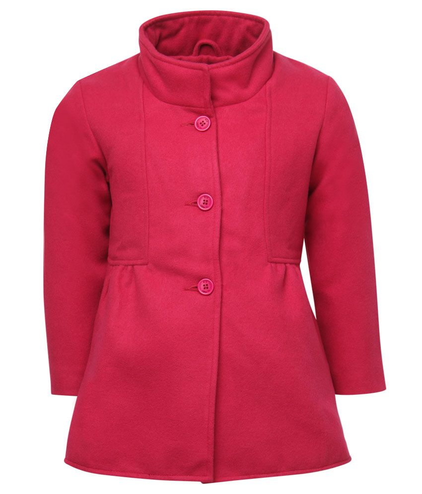 612 League Red Full Sleeves A-Line Coat