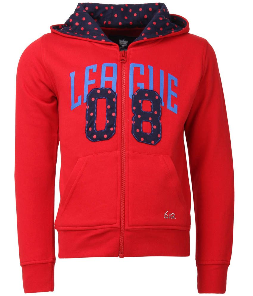 612 League Red Full Sleeves Regular Sweatshirt