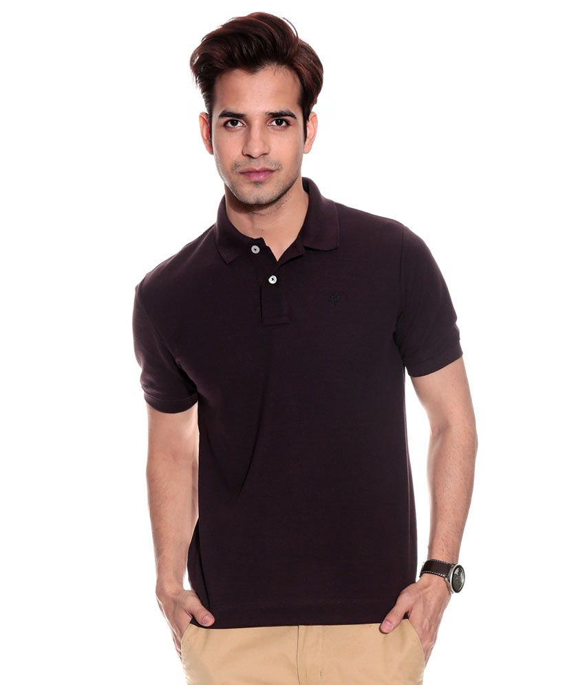 Double f brown half sleeves basics polo t shirt buy for Full sleeve polo t shirts