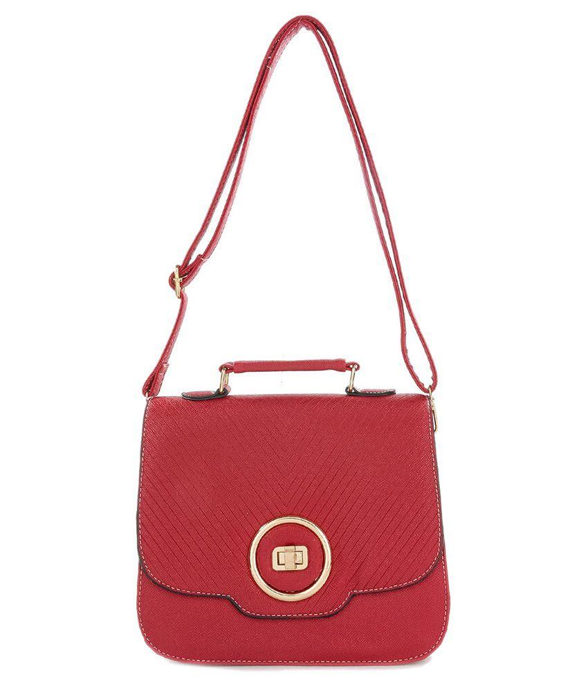 Iva Maroon Sling Bag