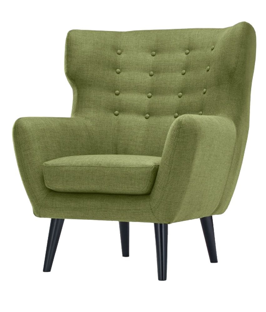 le havre solid wood sofa chair in green buy le havre solid wood sofa chair in green online at. Black Bedroom Furniture Sets. Home Design Ideas