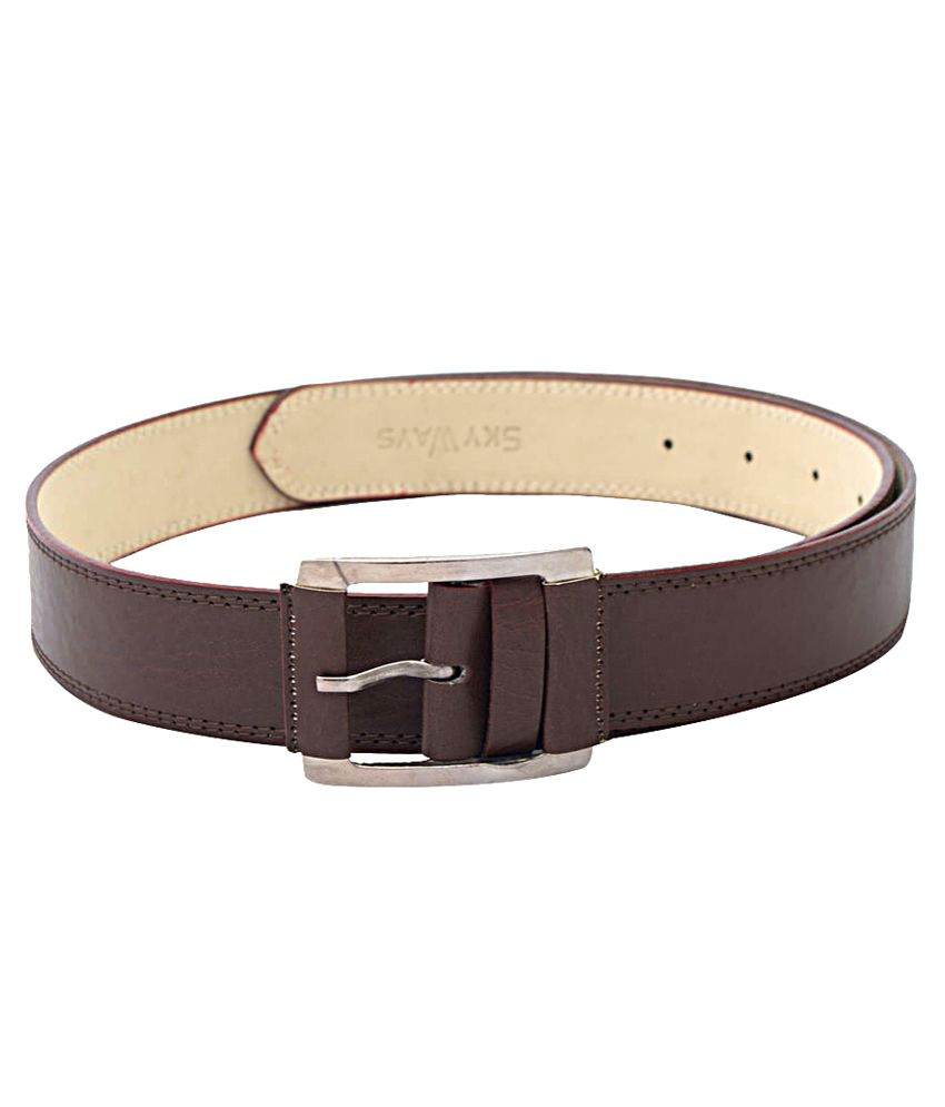 Skyways Brown Belt For Him