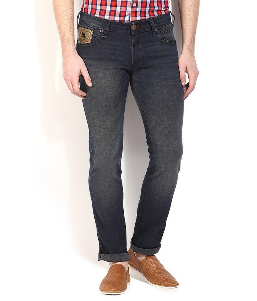 Wrangler Grey Dark Wash Slim Fit Jeans