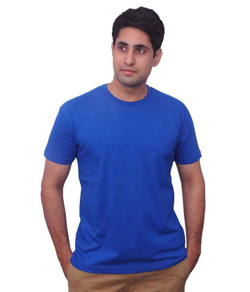 Genx-fit Blue Cotton Blend T-shirt